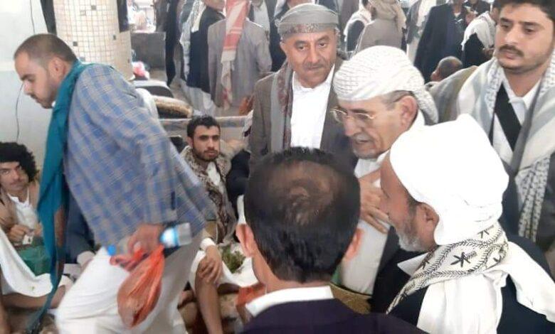 توافد كبير للقبائل إلى منزل الشيخ صادق الأحمر  في العاصمة صنعاء لهذا السبب ؟ | شاهد صور